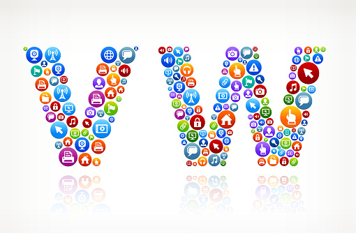 VW Technology Internet and Web Media Icon Pattern