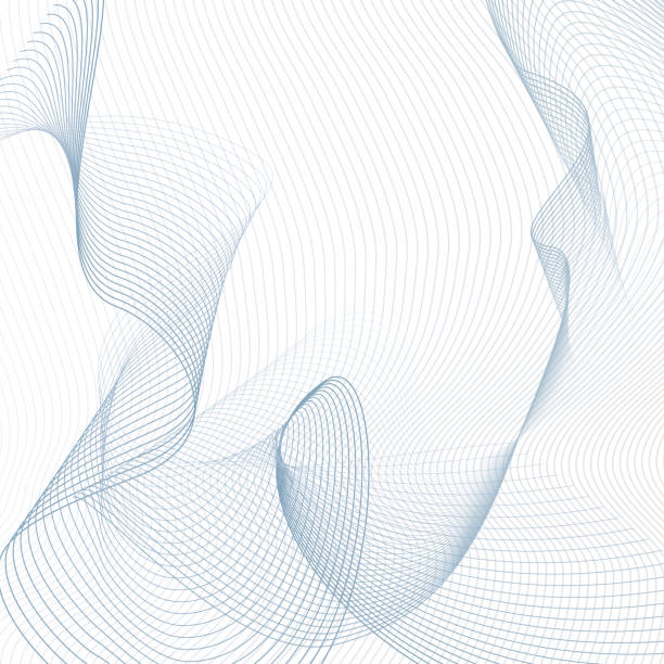 Technology line art ornament. Light blue, gray thin curves. Contemporary abstract background. Twisted, ripple, squiggle subtle lines. Vector sci-tech design. Creative wave pattern. EPS10 illustration Technology line art ornament. Light blue, gray thin curves. Contemporary abstract background. Twisted, ripple, squiggle subtle lines. Vector sci-tech design. Creative wave pattern. EPS10 illustration crisscross stock illustrations