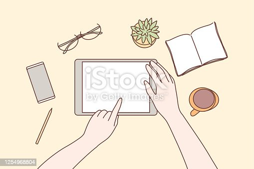 istock Technology, mobile, social media, business concept 1254968804