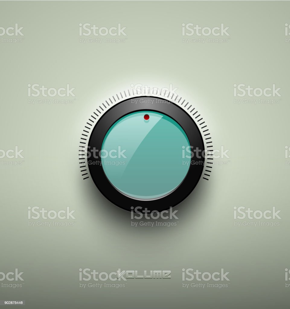 Technology Music Green Glassy Button Icon Volume Settings Sound