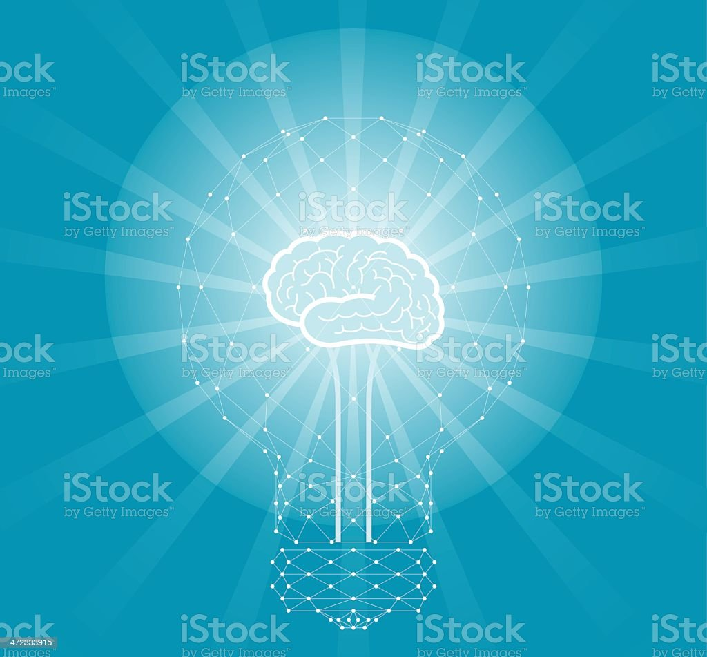 Technology Net Thinking royalty-free stock vector art
