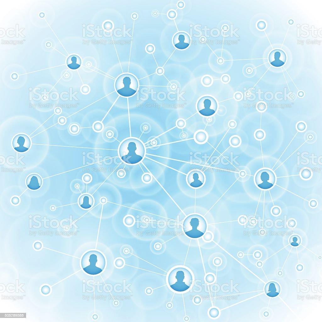 Technology network background vector art illustration