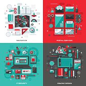 Technology Services Flat Design Concepts