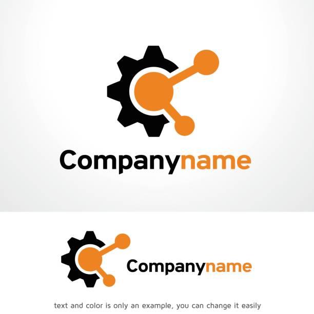 기술 공유 기호 서식 파일 디자인 벡터, 상징, 디자인 개념, 크리에이 티브 기호 아이콘 - 샘플 텍스트 stock illustrations