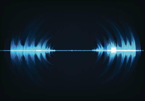 Technologie-Schallwelle – Vektorgrafik