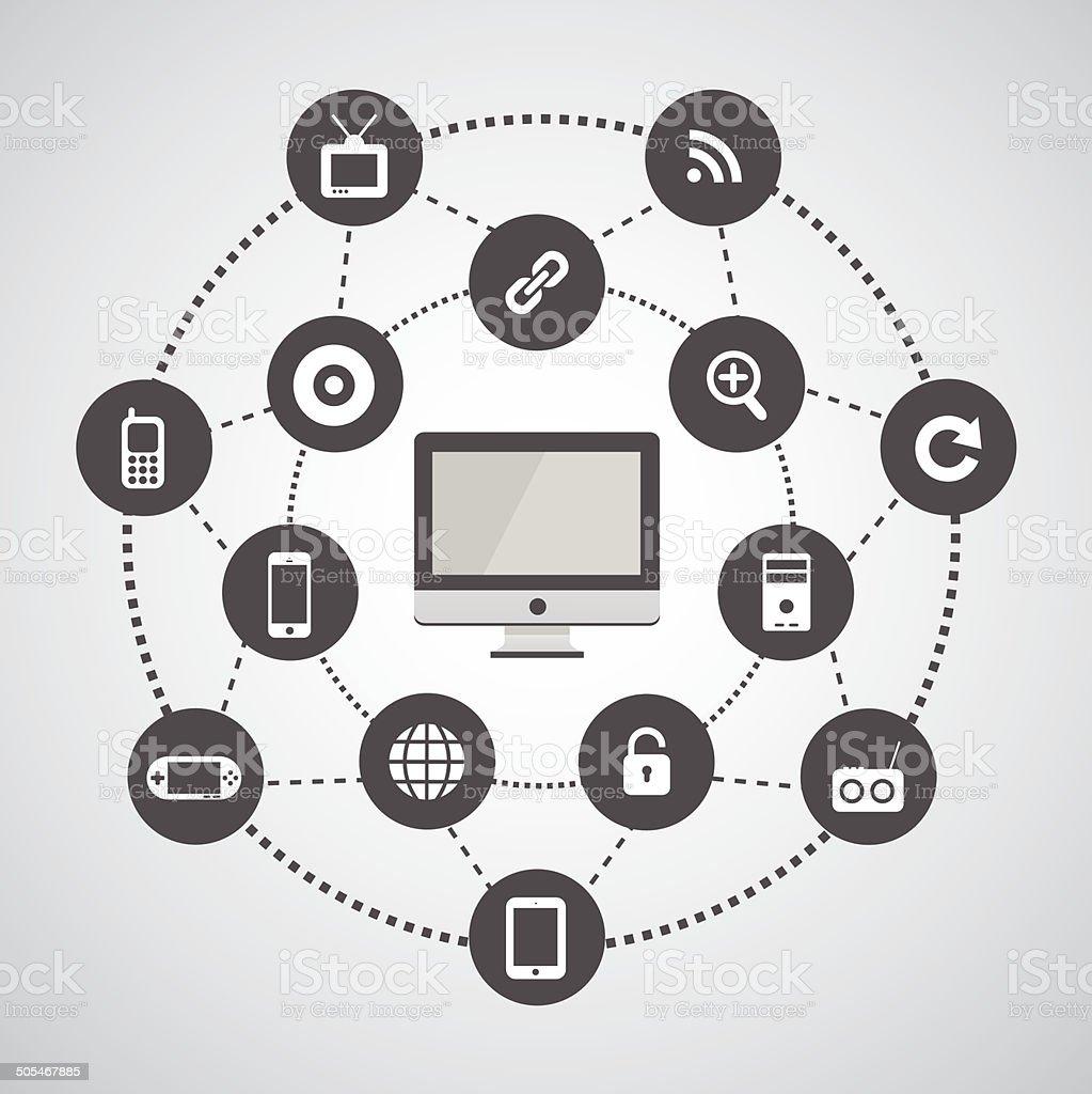 Technology Symbol Stock Illustration