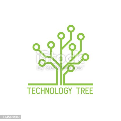 technology tree icon on white background. vector illustration