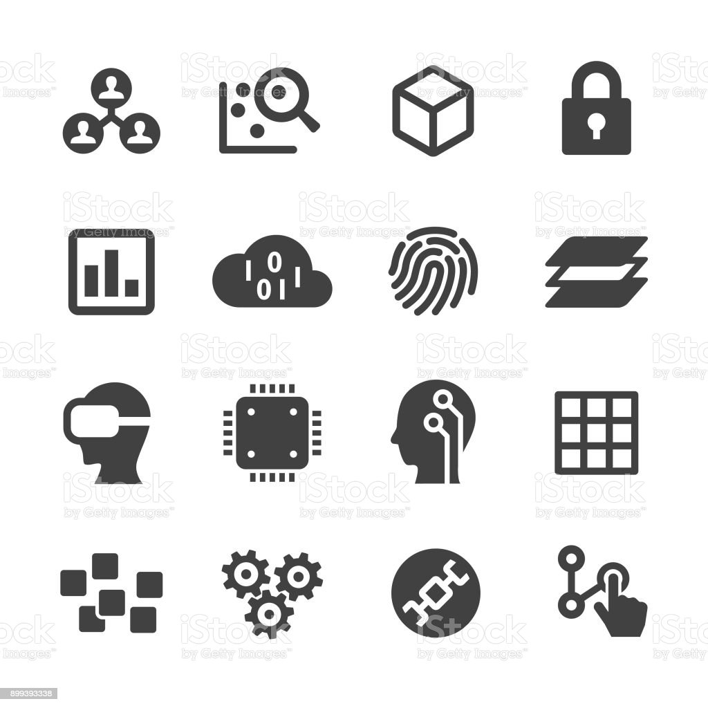 Technology Trend Icons - Acme Series vector art illustration