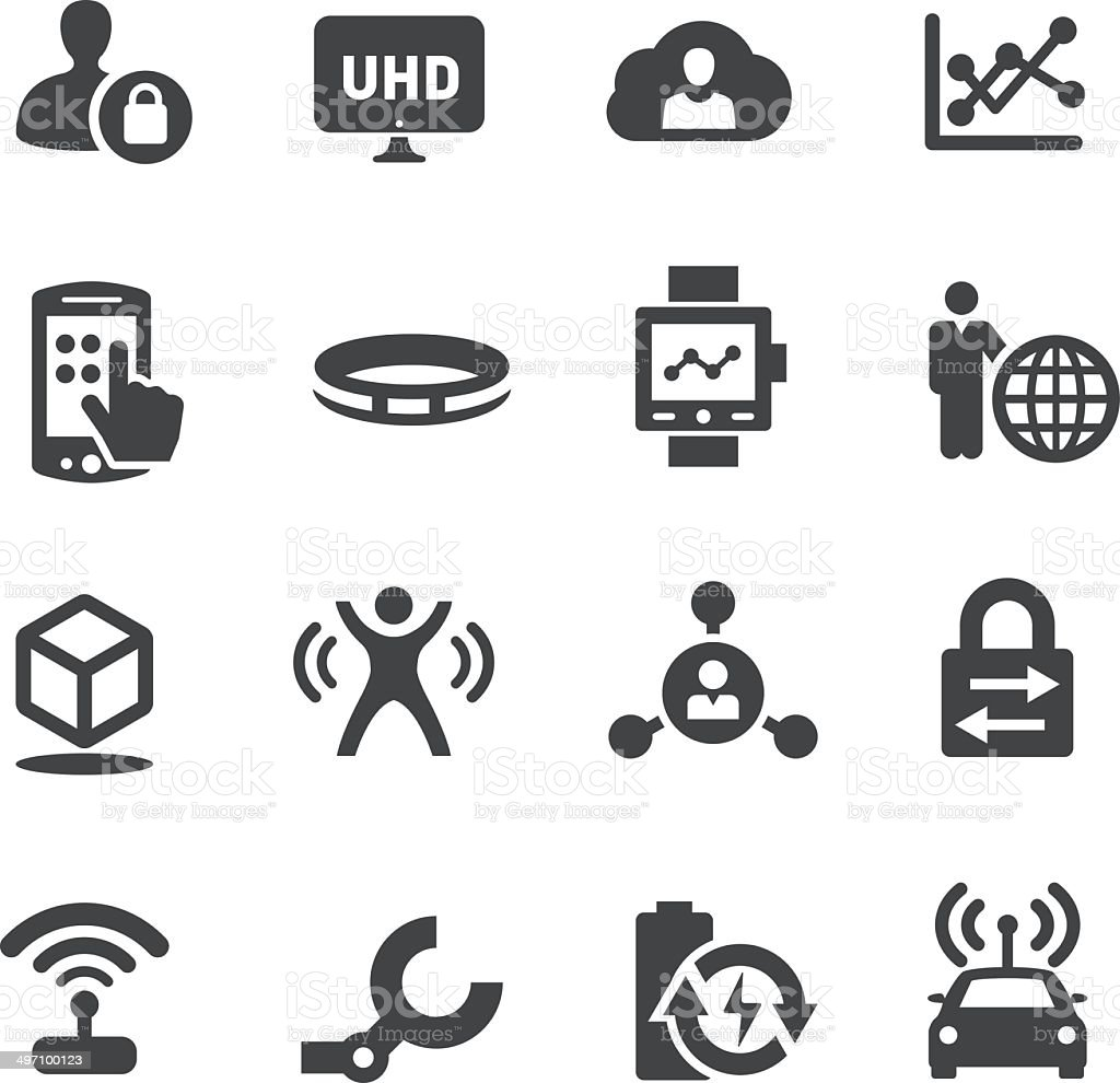 Technology Trends For Business Icons - Acme Series - 免版稅3D印刷圖庫向量圖形