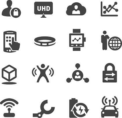 Technology Trends For Business Icons Acme Series向量圖形及更多3D印刷圖片