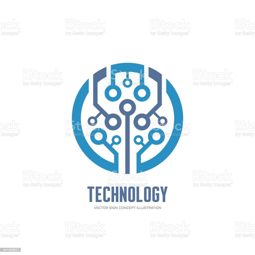 Teknoloji Kurumsal Kimlik Için Vektör Soyut Çip Işareti ...