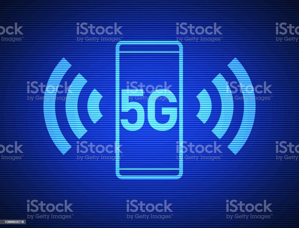 5G Technologie – Vektorgrafik