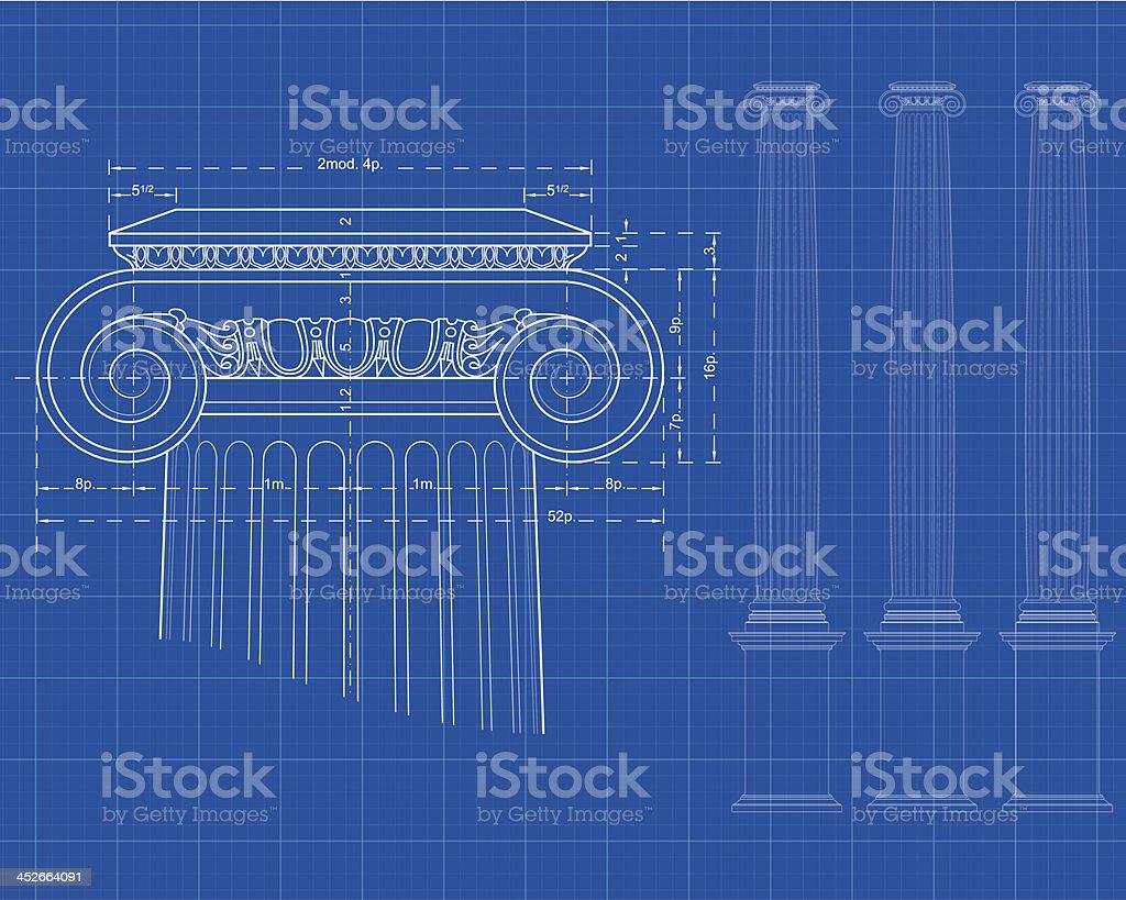 tecnic ionic column vector art illustration