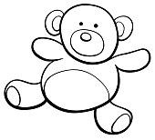 teddy bear cartoon clip art coloring book
