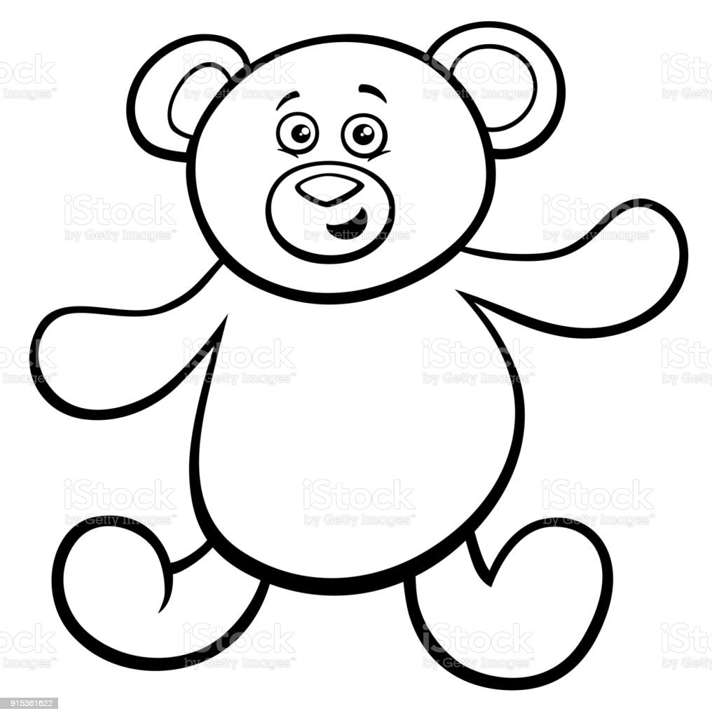 - Teddy Bear Cartoon Toy Character Color Book Stock Illustration - Download  Image Now - IStock