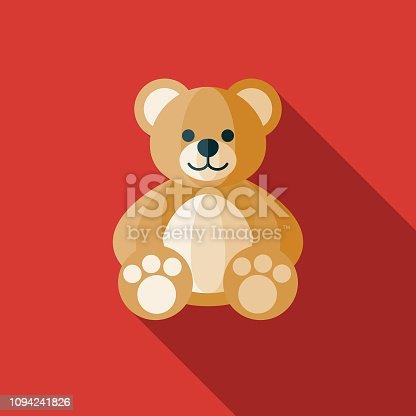 istock Teddy Bear Children's Toy Icon 1094241826