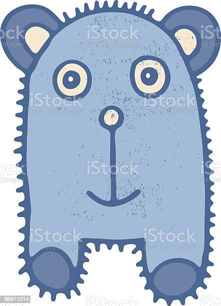 Teddy Bear Creature-vektorgrafik och fler bilder på Barndom