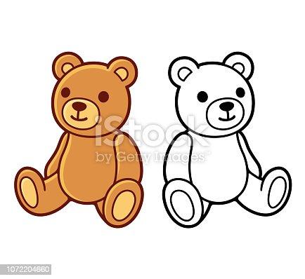 istock Teddy bear drawing 1072204660