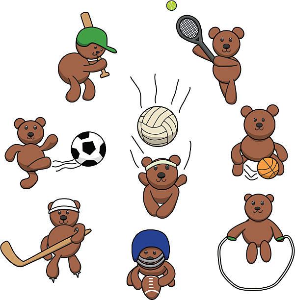 teddy bear games - ccsccs7 stock illustrations