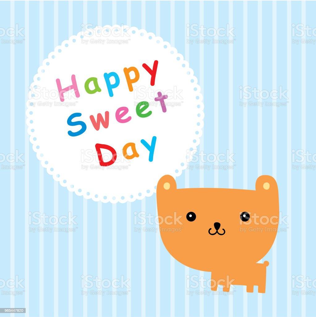 teddy bear happy sweet day royalty-free teddy bear happy sweet day stock vector art & more images of animal