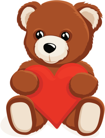 Teddy Bear holding a heart