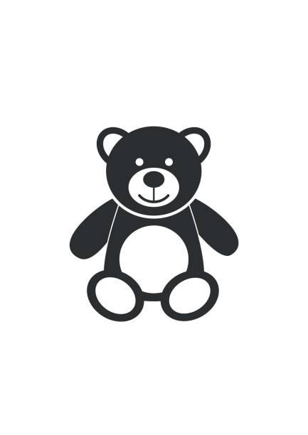 ilustrações de stock, clip art, desenhos animados e ícones de teddy bear icon character isolated on white background. soft toy icon - teddy bear