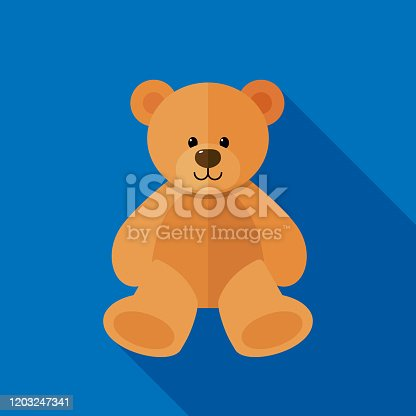 istock Teddy Bear Icon Flat 1203247341