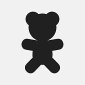 Teddy bear icon illustration isolated vector sign symbol