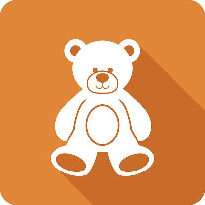 Teddy Bear Icon Silhouette
