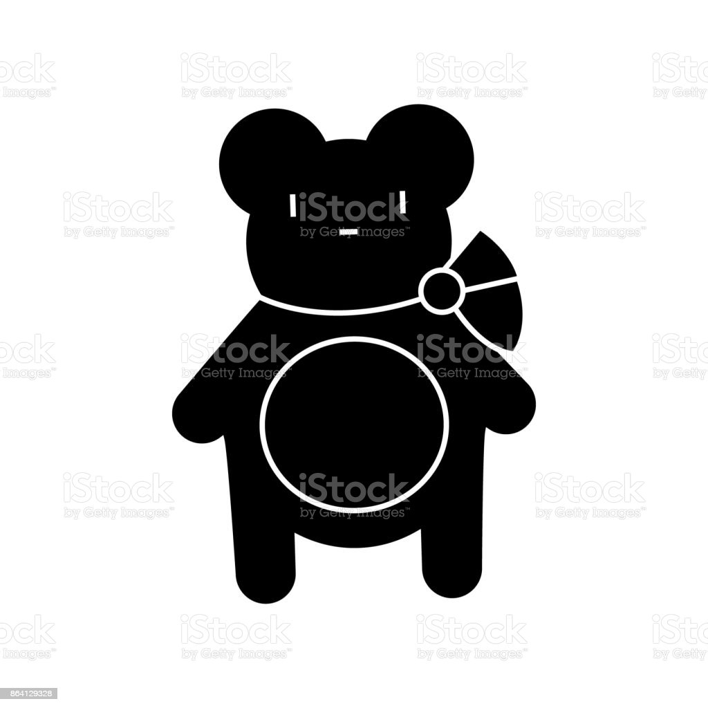teddy bear  icon, vector illustration, sign on isolated background royalty-free teddy bear icon vector illustration sign on isolated background stock vector art & more images of animal