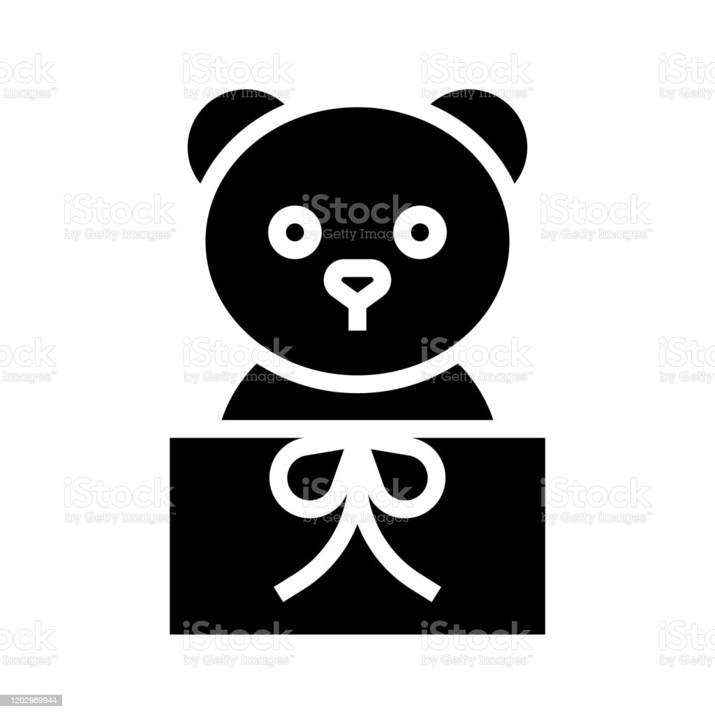 teddy bear with gift box vector line icon, sign, illustration on Stock  Vector Image & Art - Alamy