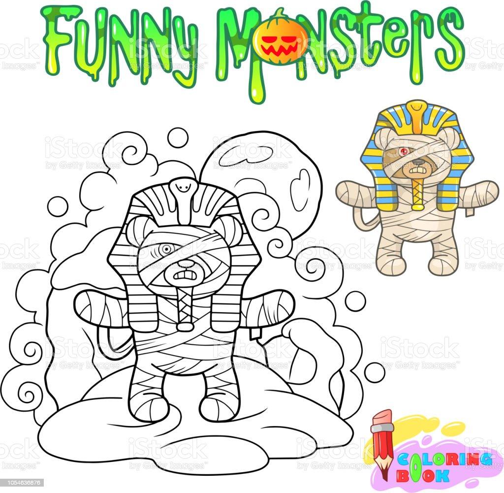Oyuncak Ayi Anne Komik Resim Boyama Kitabi Stok Vektor Sanati