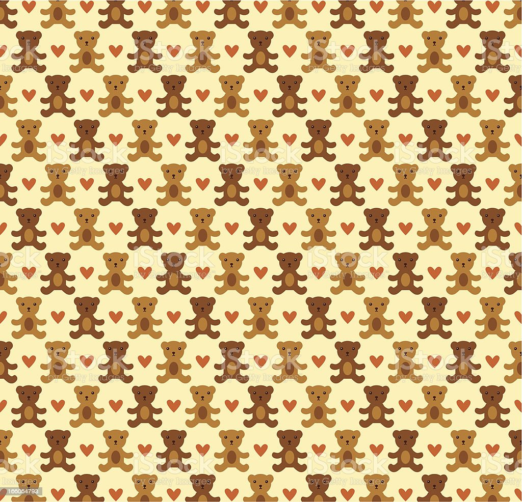 Teddy bear seamless pattern royalty-free teddy bear seamless pattern stock vector art & more images of backgrounds