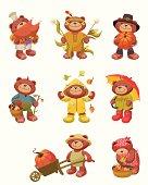 Teddy Bear Series: Fall Fun and Thanksgiving.