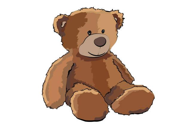 ilustrações de stock, clip art, desenhos animados e ícones de teddy bear - teddy bear