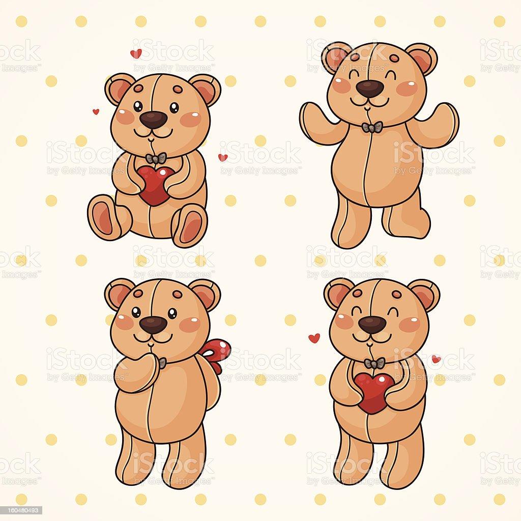 Teddy bear royalty-free teddy bear stock vector art & more images of animal