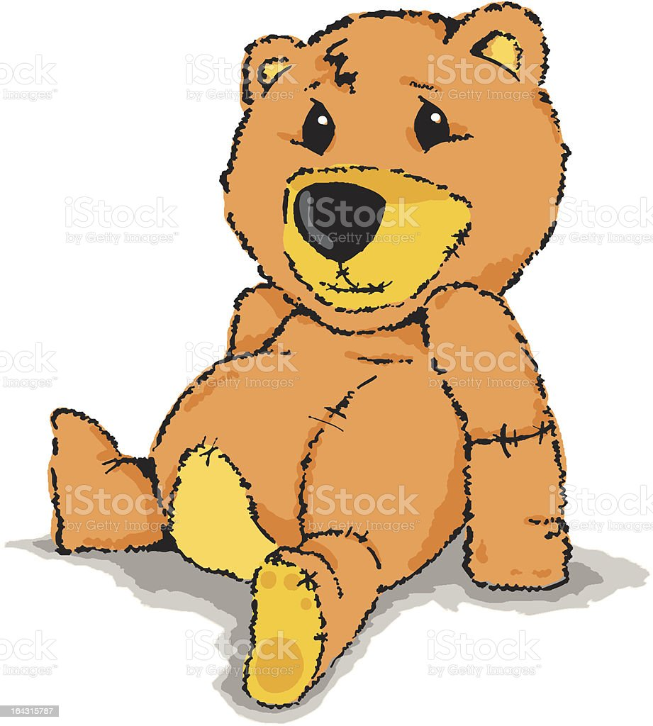 Teddy bear royalty-free teddy bear stock vector art & more images of animal