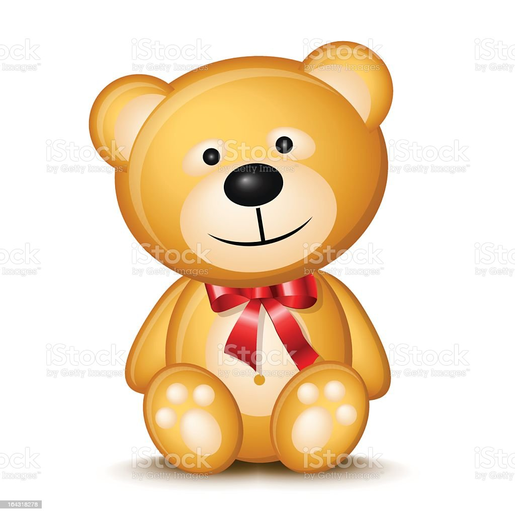 teddy bear stock vector art more images of animal 164318278 istock rh istockphoto com teddy bear vector free teddy bear vector images free download