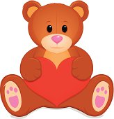 vector file of teddy bear, eps10, transparency used.