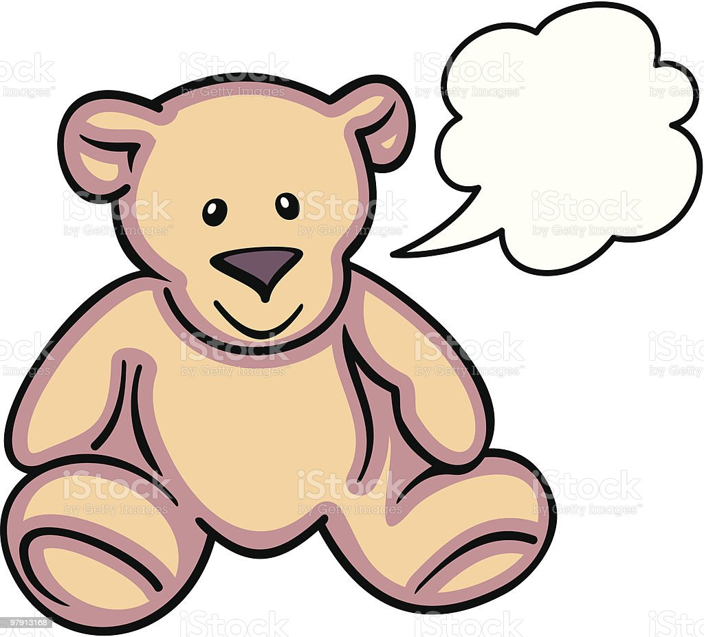 Teddy Bear - Vector Illustration royalty-free teddy bear vector illustration stock vector art & more images of animal