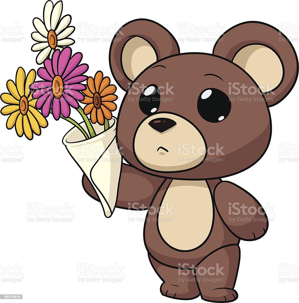 Orsetto a fiori orsetto a fiori - immagini vettoriali stock e altre immagini di bouquet royalty-free