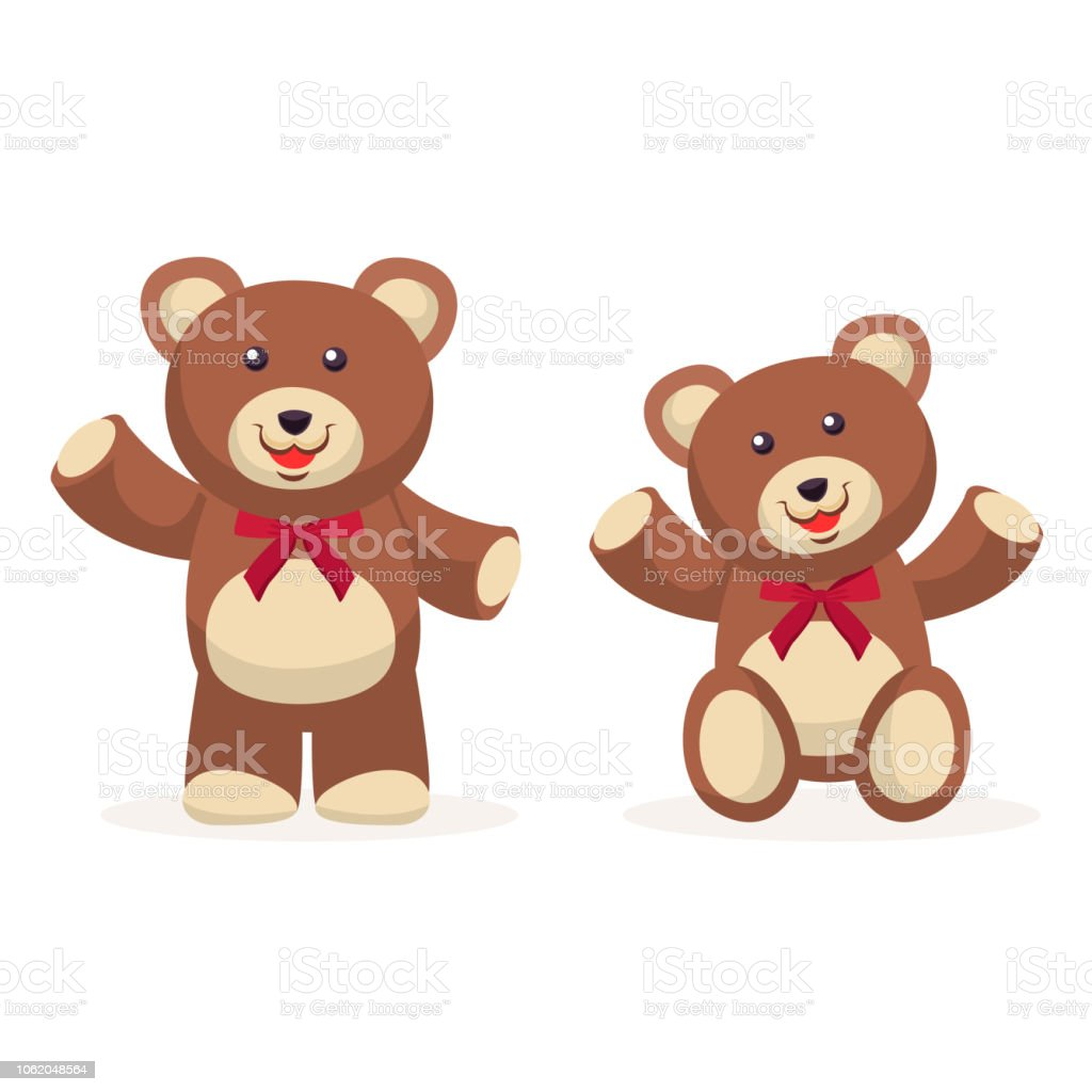 Ours En Peluche Avec Cravate Vector Design Cliparts Vectoriels Et