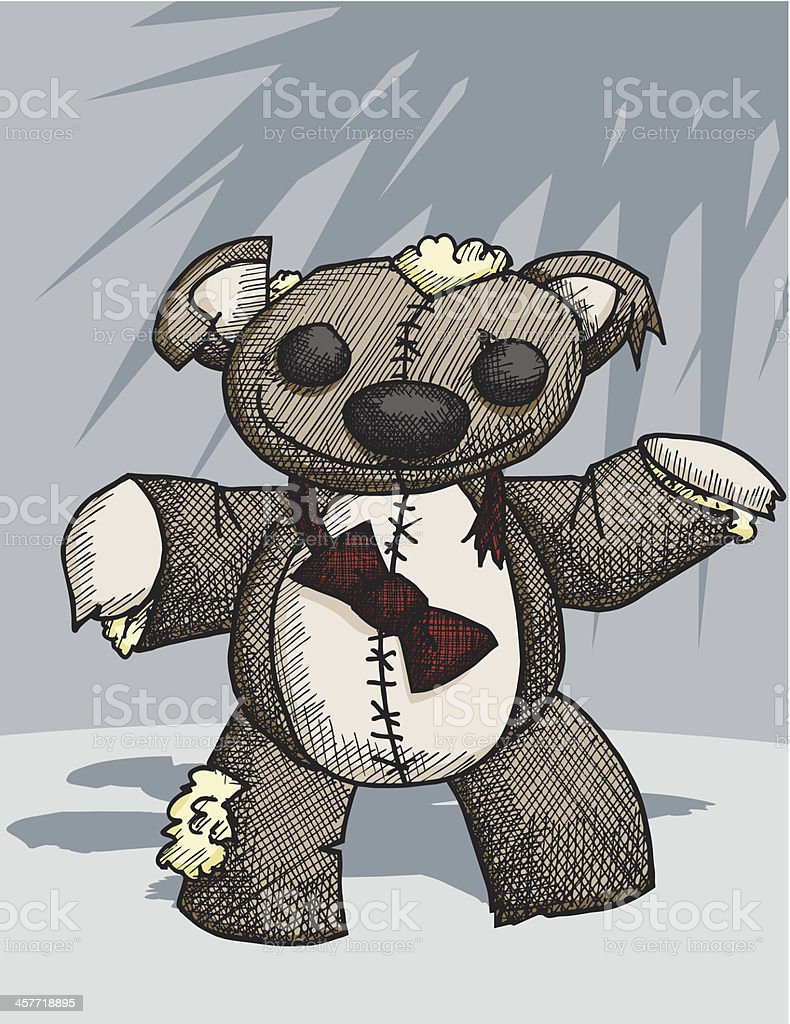 Teddy Bear Zombie Stock Vector Art More Images Of Bear Istock
