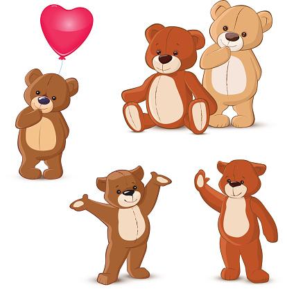 Teddy bears set