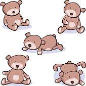 Five cool fun teddy bears