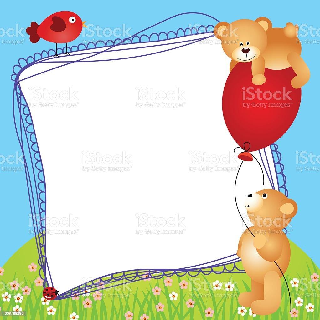 Gemütlich Teddy Bear With Picture Frame Galerie - Benutzerdefinierte ...