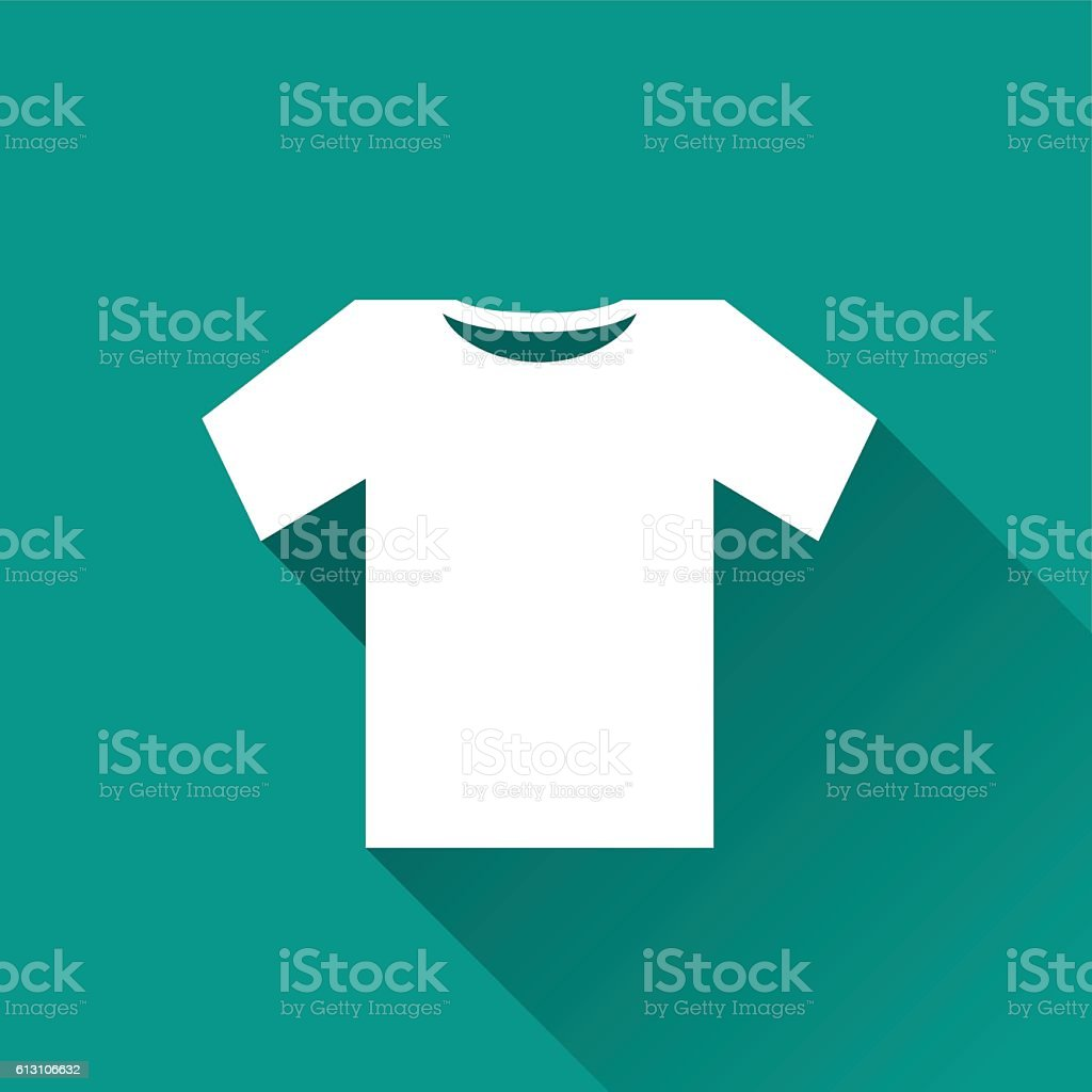 tee shirt icon design vector art illustration