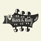 Rock music print, hipster vintage label, graphic design, rock-music tee print stamp design. t-shirt print lettering artwork, vector