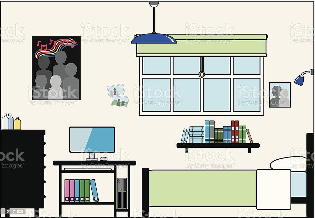 Teen Chambre A Coucher Avec Ordinateur De Bureau Meubles Et Des