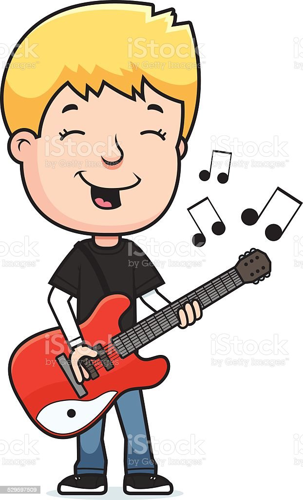 Play My Guitar Clipart Clipart Vector Design
